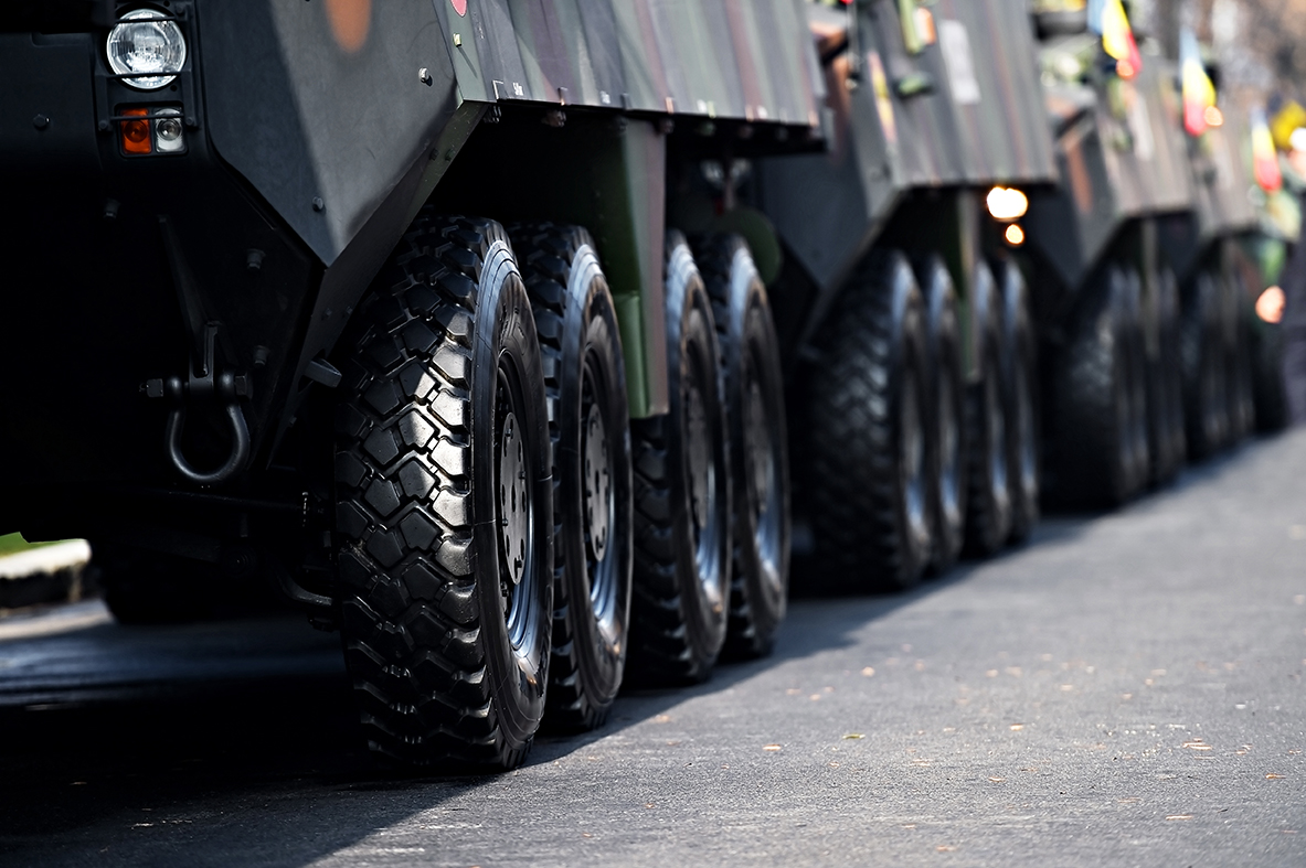 A Convoy of Armored SUV Limos
