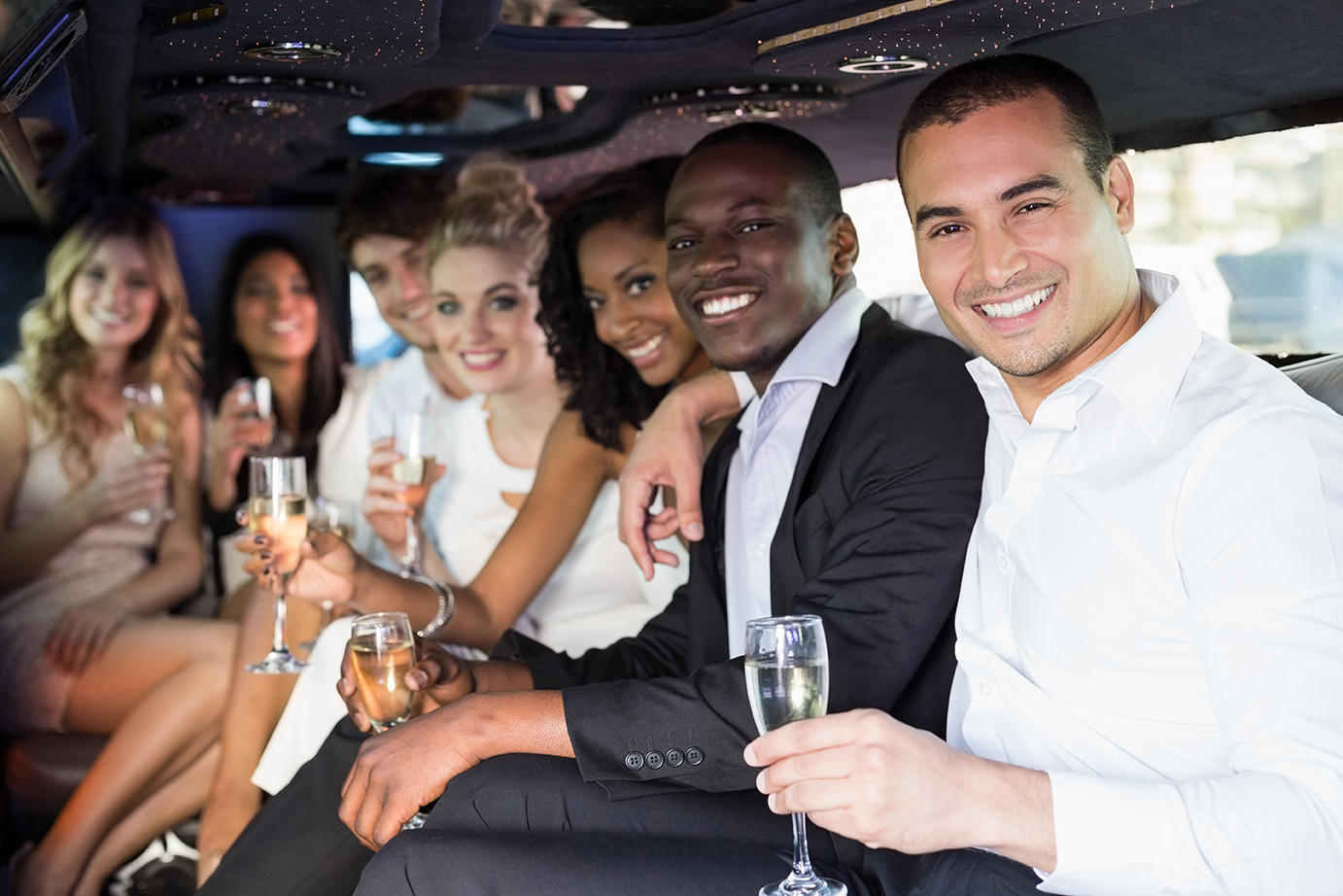 Group of people using limousine sales from Coachwest