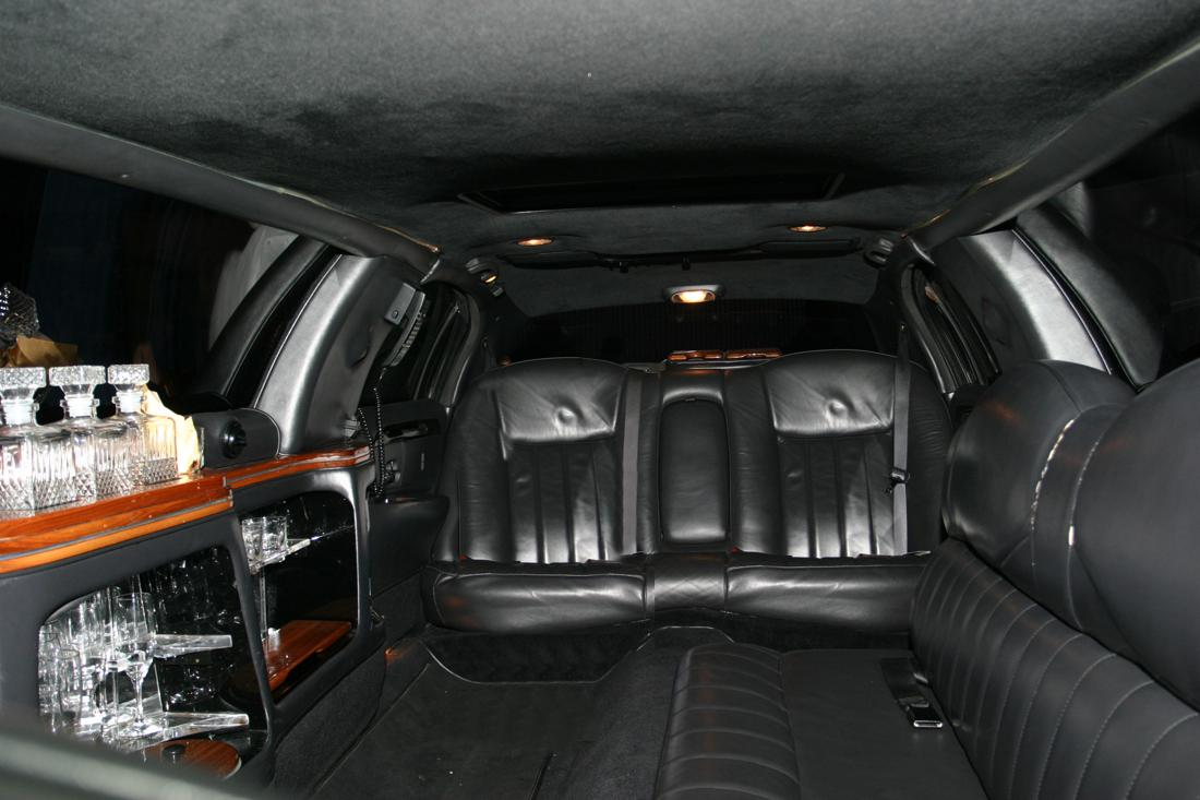 interior of SUV limo