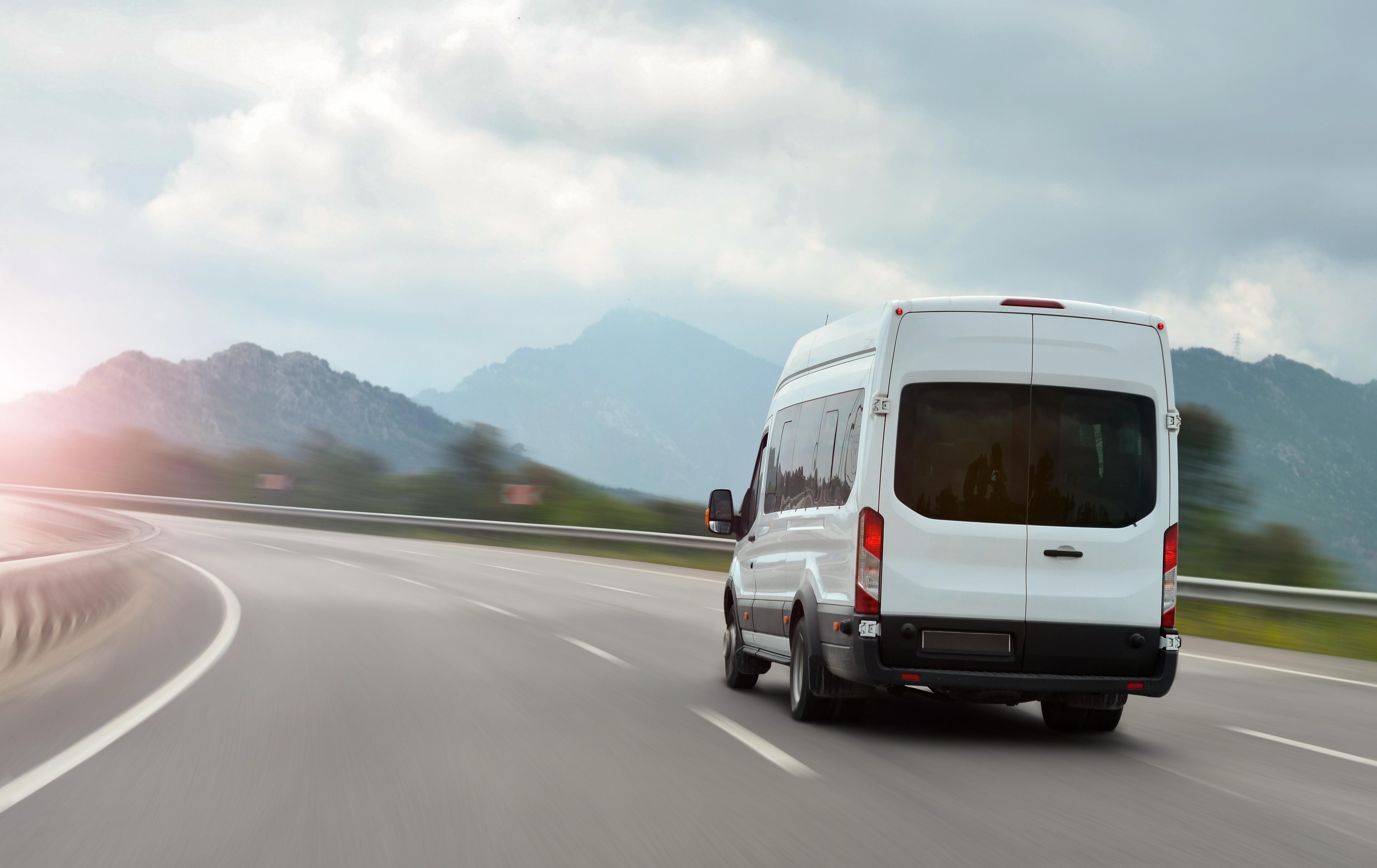 Sprinter van on the highway