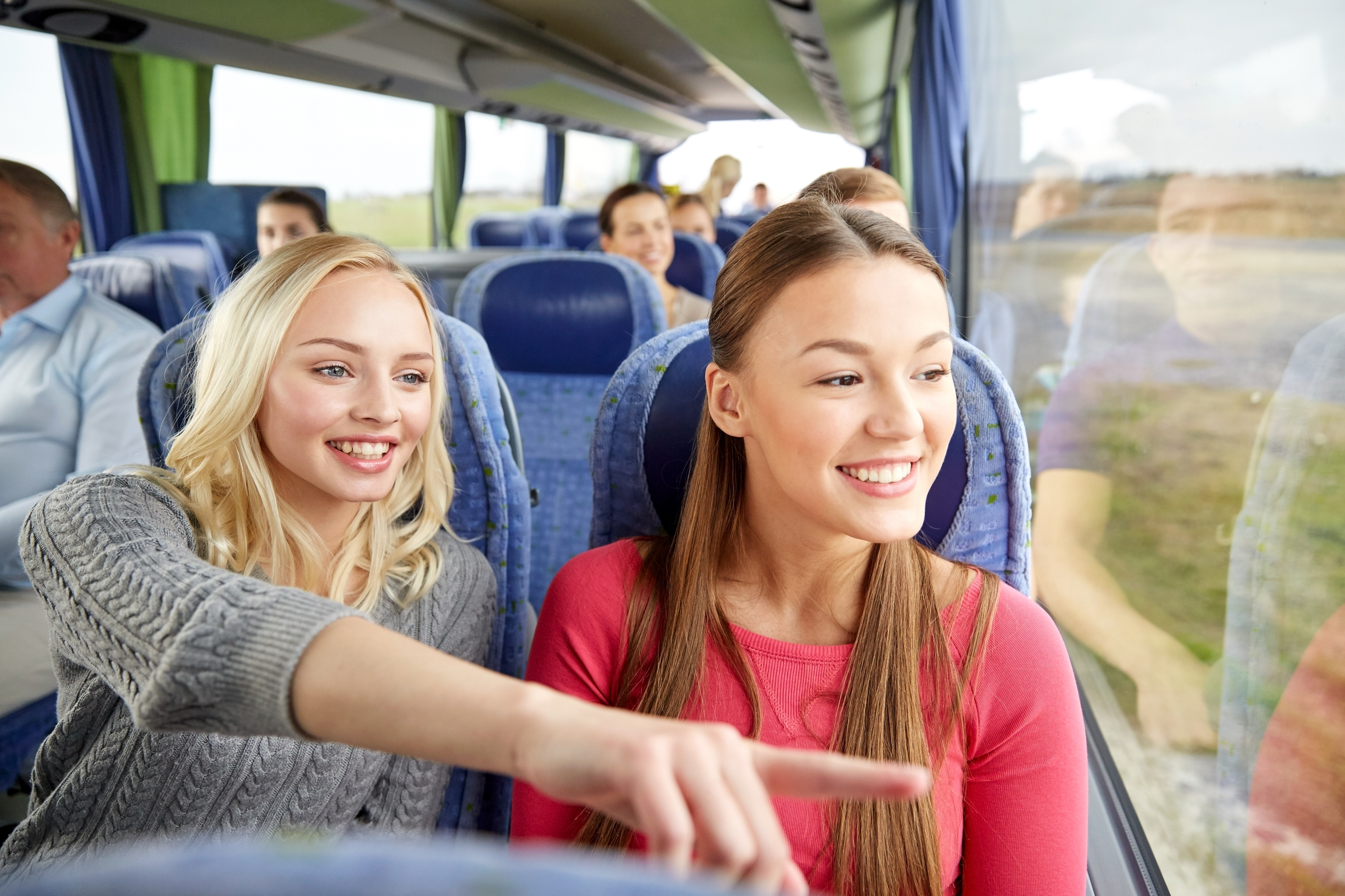 Women traveling together on road trip