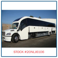 2020 Freightliner Executive Bus Builders SuperCoach 45 XL Driver's Side View Cargo Doors Open