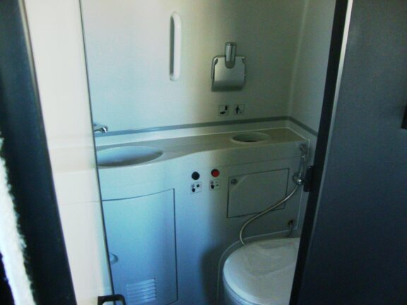 2020 Freightliner Executive Bus Builders SuperCoach 45 XL View of the Bathroom