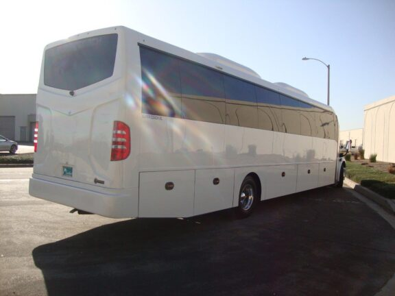 2020 Freightliner Executive Bus Builders SuperCoach 45 XL 3/4 Rear view Passenger Side