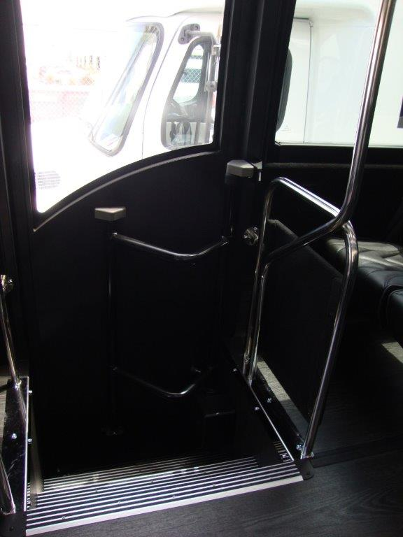 2021 Freightliner Executive Bus Builders ECoach 45 Wide Body View of Exit Door from the Inside
