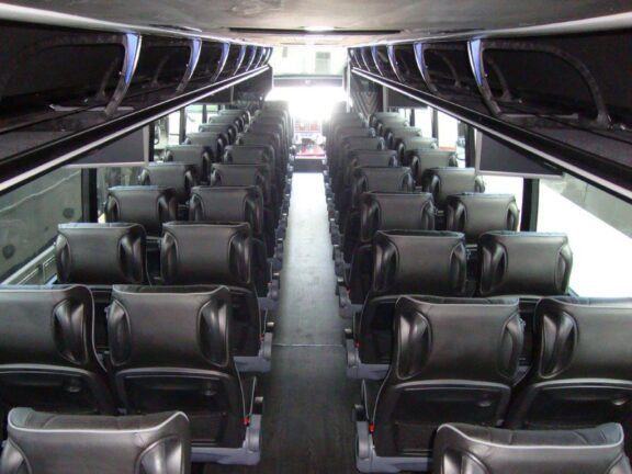 2021 Freightliner Executive Bus Builders ECoach 45 Wide Body View of Passenger Cabin From the Rear and Above