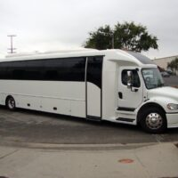 2021 Freightliner Executive Bus Builders ECoach 45 Wide Body 3/4 Side View Passenger Side