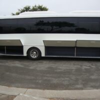 2021 Freightliner Executive Bus Builders ECoach 45 Wide Body Cargo Compartments Open Passenger Side