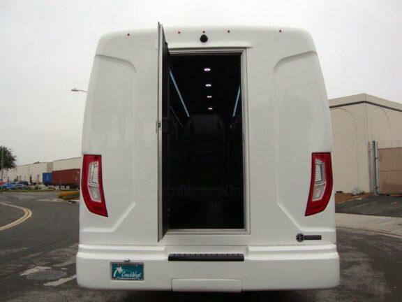 2021 Freightliner Executive Bus Builders ECoach 45 Wide Body Rear Emergency Door Open