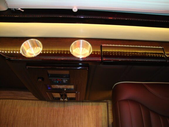 Cupholders in railing 2019 Mercedes Benz Executive Coach CEO Sprinter