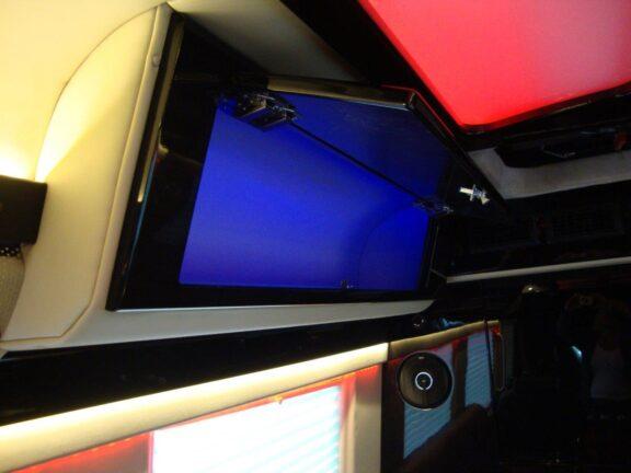 Unfolding TV screen compartment 2019 Mercedes Benz Executive Coach CEO Sprinter