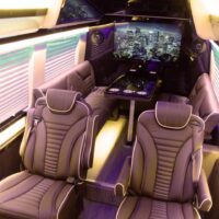 Full interior view from the ceiling 2019 Mercedes Benz Executive Coach CEO Sprinter